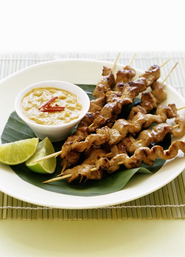 This satay marinade recipe adds a wonderful combination of flavors to any skewered meat. Try it with seafood too!