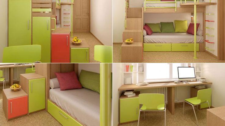 Dormitorio juvenil peque o para compartir en 2019 - Dormitorio juvenil pequeno ...