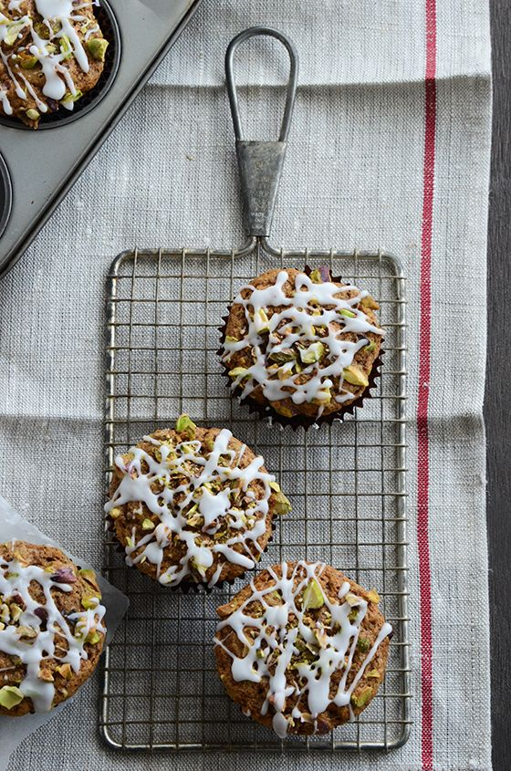Pistachio-Chai Muffins. Two of my favorites combined into one?! Totally going to try these out.