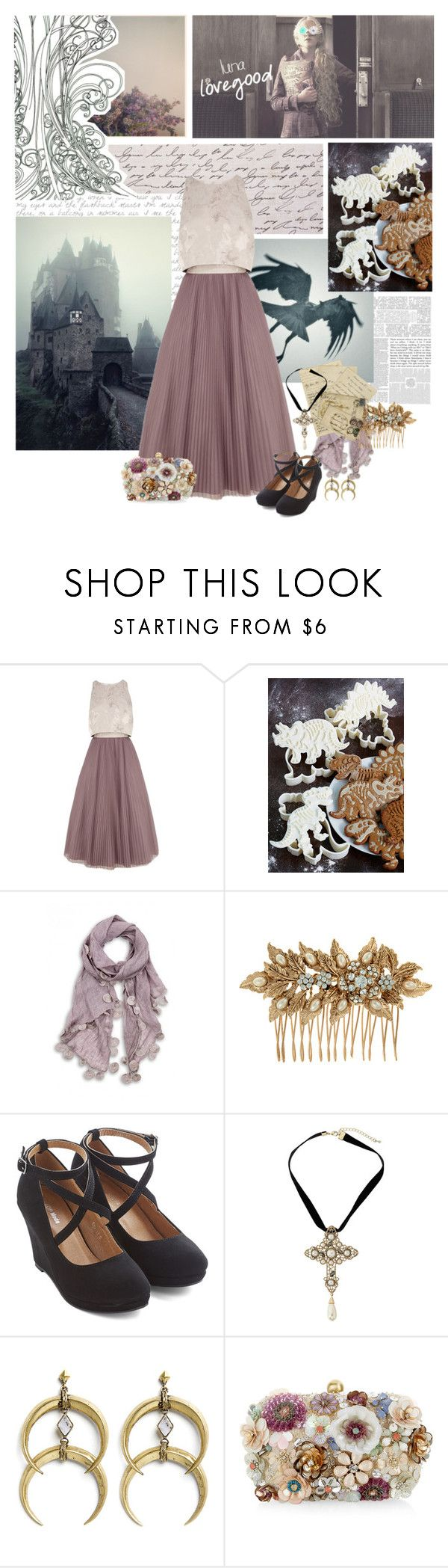 """Luna Lovegood"" by summersdream ❤ liked on Polyvore featuring Jardin, Luna, Coast, Accessorize, Dorothy Perkins, A Peace Treaty, harrypotter and lunalovegood"