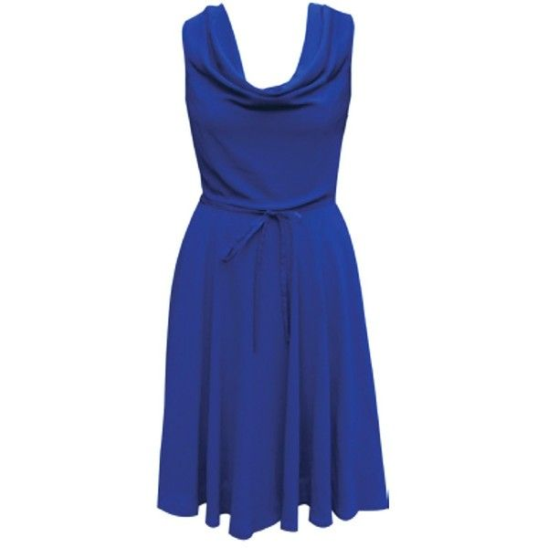 FC Fair  Fairly Made Stevie Floaty Dress ($105) ❤ liked on Polyvore featuring dresses, holiday party dresses, wrap tie dress, bridesmaid dresses, night out dresses and blue bridesmaid dresses