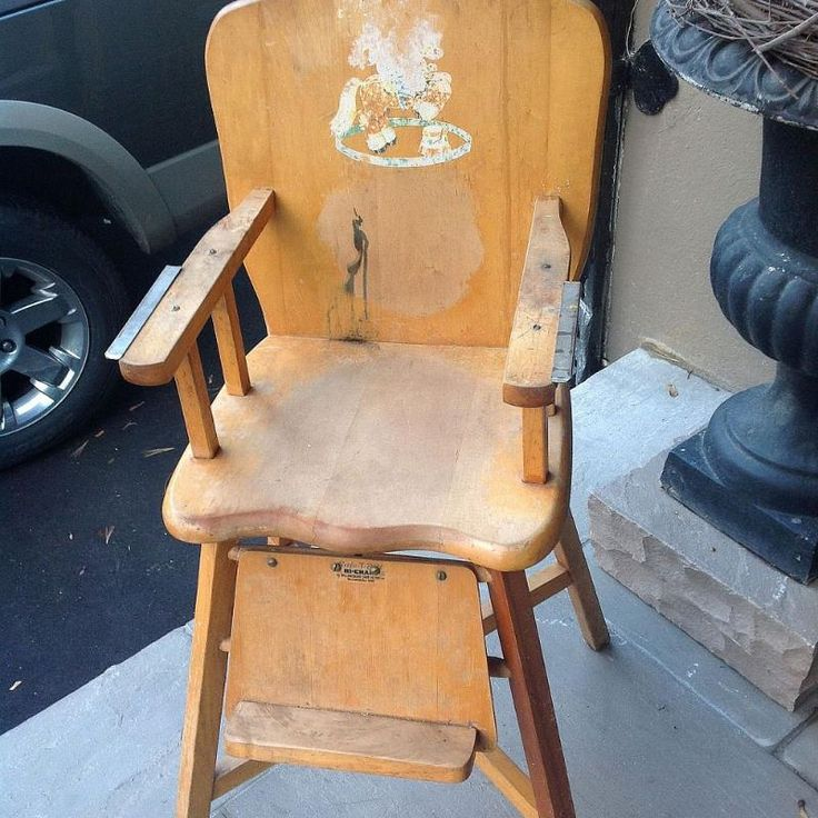 Old Wooden Baby High Chair- What to Do?