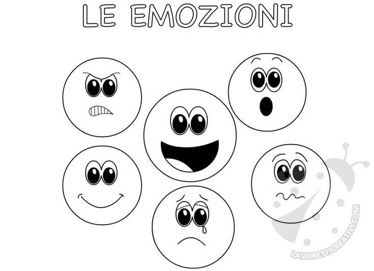 Faccine delle emozioni da colorare