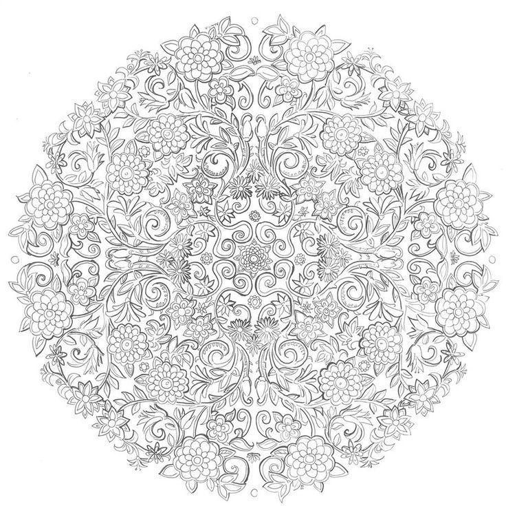 Mandalas Arte Terapia Colorear Imprimibles Pintar Dibujos Paginas Para Mandala Adult Coloring Pages