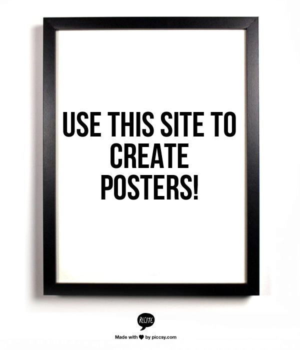 Plug in a quote and choose a chic background.  This site creates posters to print, email, etc. Seriously awesome!