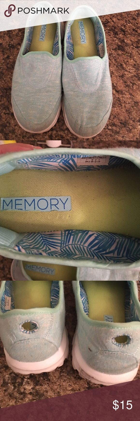 Skechers GoWalk Memory Foam Sneakers (Washable) Skechers GoWalk Memory Foam Sneakers. Light blue/Aqua. Size 10. Light signs of wear. Sneakers are washable and dryer-safe. Skechers Shoes Sneakers