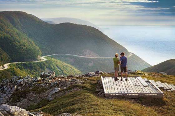 Skyline Trail, Cape Breton- Nova Scotia. This looks like a postcard but is for real! Best seen via bike ride...