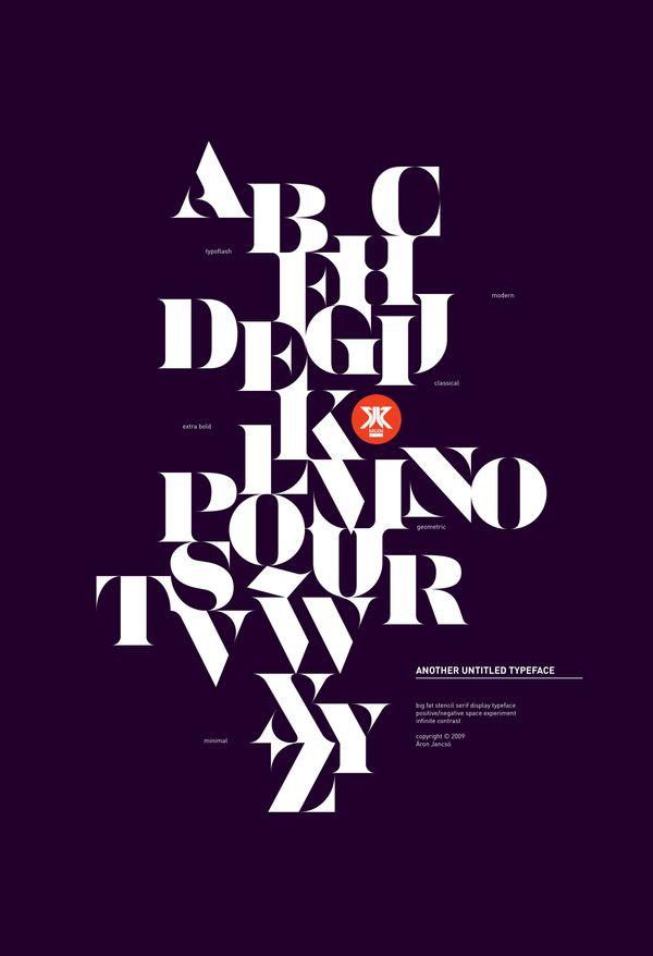DTypographic posters by Áron Jancsó, via Behance