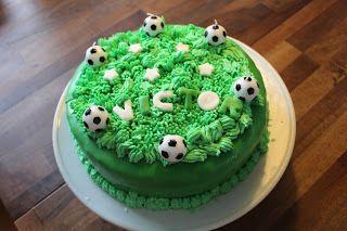 Marias Madside: Victors fodboldfødselsdagskage (chokoladelagkage)