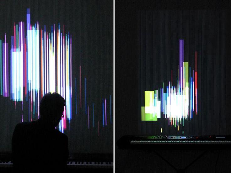 """El """"Clavilux 2000"""" es un instrumento interactivo para la visualización de la música generativa. Desarrollado por Jonas Friedemann Heuer."""