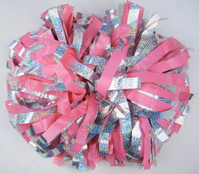 Pink and holographic silver available for $16 each pom poms