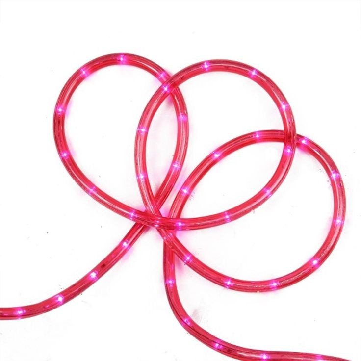 """18' Pink LED Indoor/Outdoor Christmas Rope Lights - 2"""" Bulb Spacing - 31010307"""