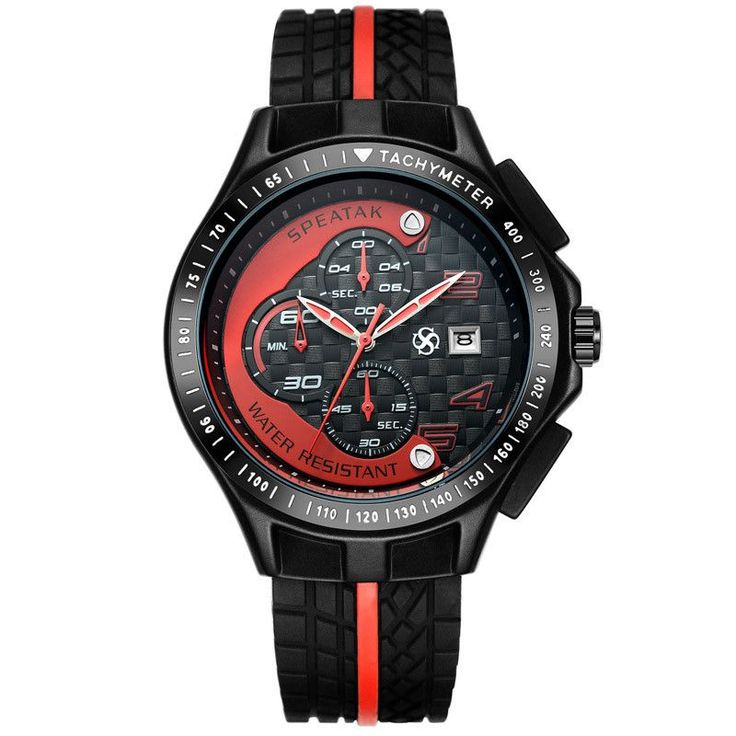 New Men Racer Sports Watches Chronograph Function 6 Hands Quartz Date Clock Man Silicone Strap Luxury Top Brand Wrist Watch