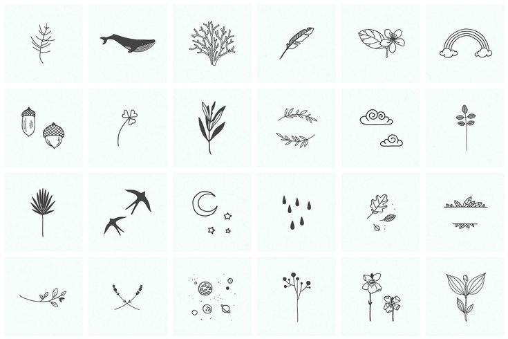 100 Hand Drawn Elements by Michael Rayback Design on Creative Market
