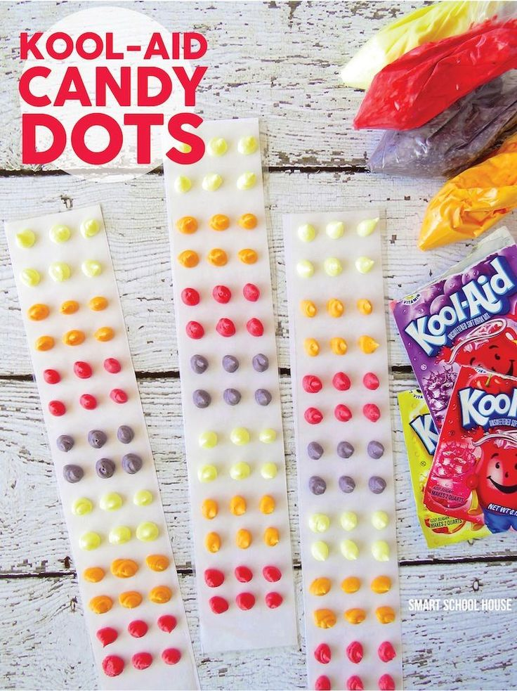 Kool-Aid Candy Dots- Kool-Aid Candy Dots that are PERFECT for sunny days!