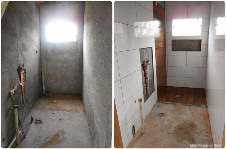 Banheiro pequeno comprido clean pesquisa google - Piso pequeno moderno ...