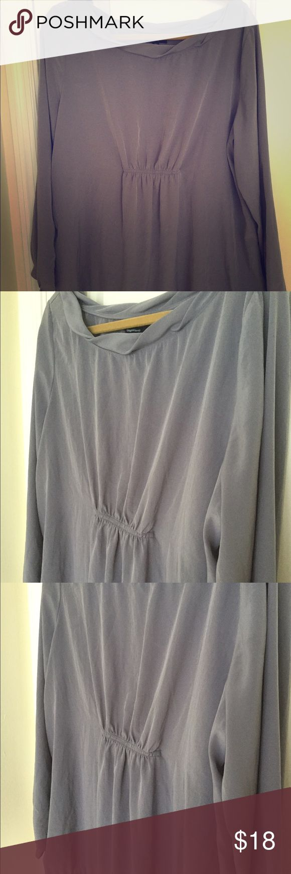 Gap top - maternity Very lightweight and classy long sleeve gap maternity blouse. Wear with leggings or skinny jeans. GAP Tops Blouses