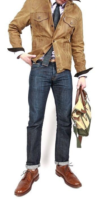 .Men Clothing,  Blue Jeans, Men Style, Menstyle,  Denim, Fall Looks, Jackets, Men Fashion, Style Blog