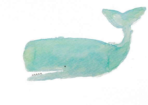 Whale Print. Watercolor Art. Fine Art Print. Coastal Decor. Nursery Decor. Home Decor. Turquoise + Aqua. on Etsy, $14.00 (For my Toby?)