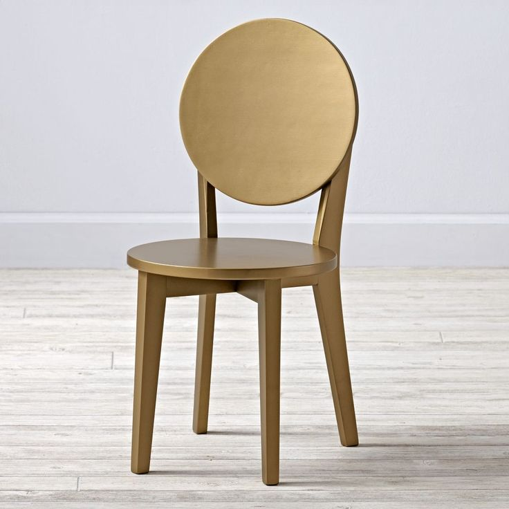 $59 Shop Double Dot Gold Kids Chair.  Let the unique circular design of our Double Dot Kids Chair serve as a constant reminder to cross your T's and dot your I's.