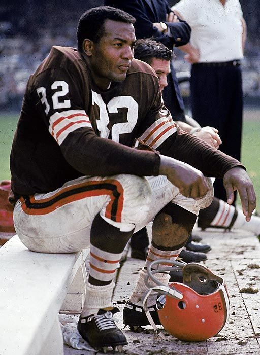Jim Brown Cleveland Browns enshrined 1971. www.walk-onu.com, #walkon, #walkons, #walkonu