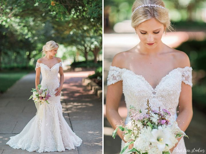 Breeze Boutique collaborated with Love Tree Studios on this incredible photoshoot featuring the David Tutera for Mon Cheri Aura dress (Style No. 116201). We are over the moon for these stunning shots as they truly capture the detail of the Venise lace appliqués and sparkly bodice on this off the shoulder trumpet wedding gown. Do you …