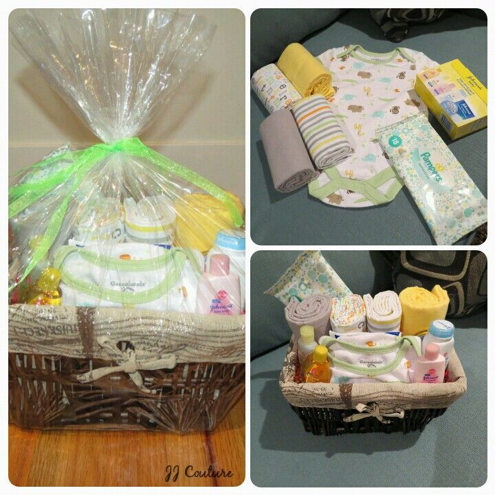 Gender Neutral Baby Shower Gift Basket
