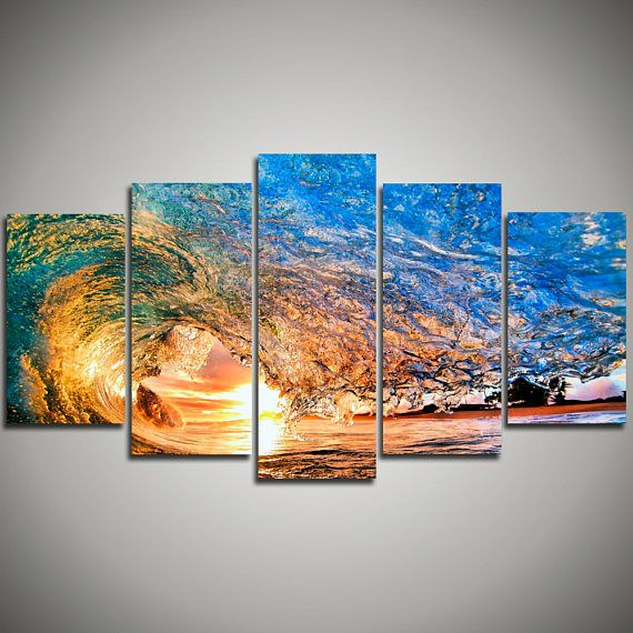 Ocean Waves canvas print large Wave Ocean view bedroom - Ocean canvas art - landscape canvas gift for her - Office Decoration home decor 36…