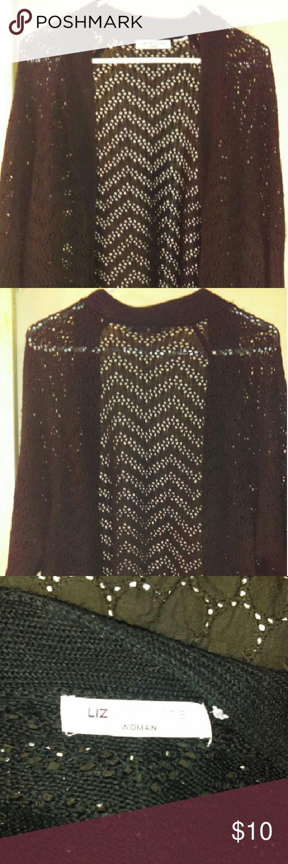 Liz Claiborne Crochet Shrug Liz Claiborne 3/4 Sleeve Crochet Shrug Liz Claiborne Sweaters Shrugs & Ponchos