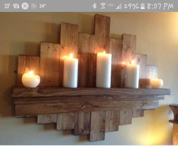 Pallet wall project crafts gifts pinterest - Rustikale wandregale ...