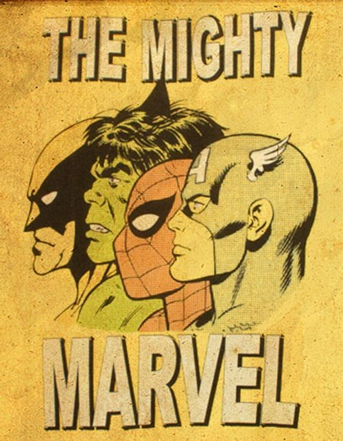 Marvel.. oh how badly i want this framed and put in my bathroom... Birthday present anyone? :)