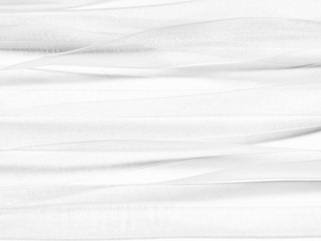3/8-Inch Organza Ribbon-White by the Foot  (wind tribe)