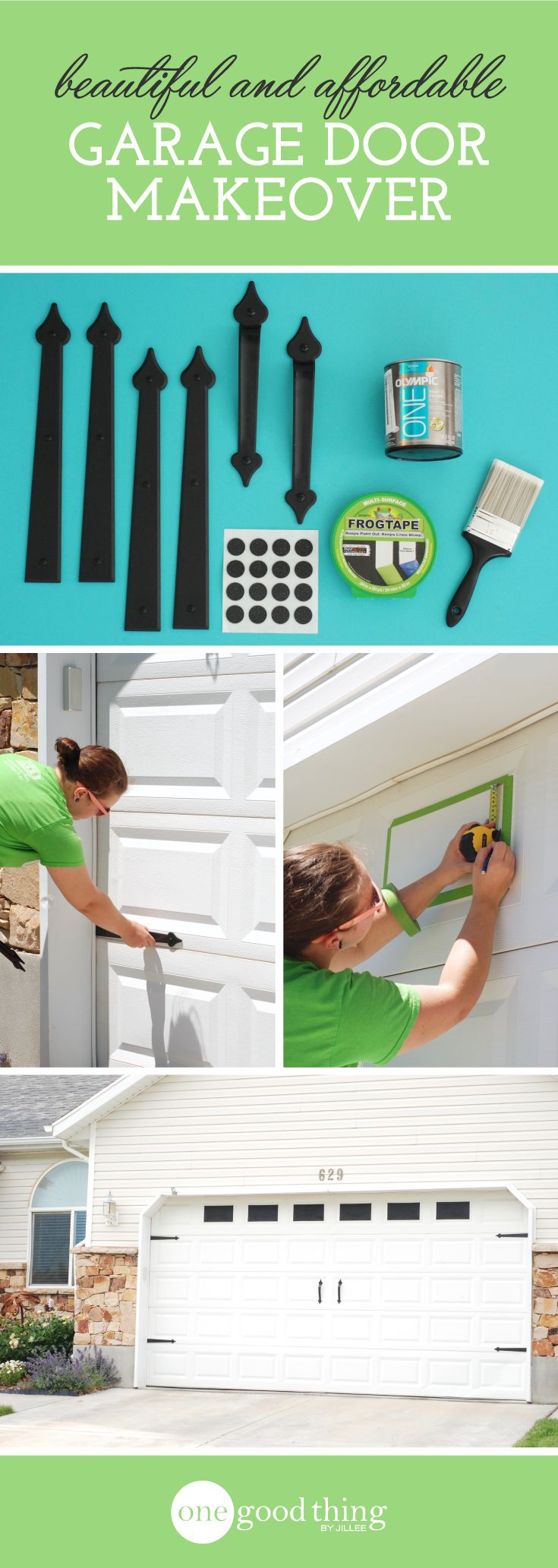 A Beautiful and Surprisingly Affordable Garage Door Makeover