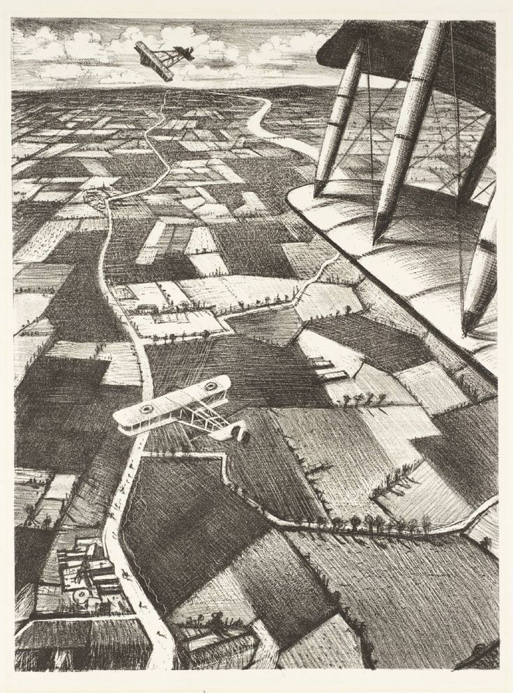 Christopher Richard Wynne Nevinson, 'In the Air' 1917