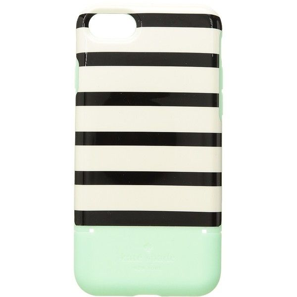 Kate Spade New York Stripe Credit Card Phone Case for iPhone(r)... ($45) ❤ liked on Polyvore featuring accessories, tech accessories and kate spade