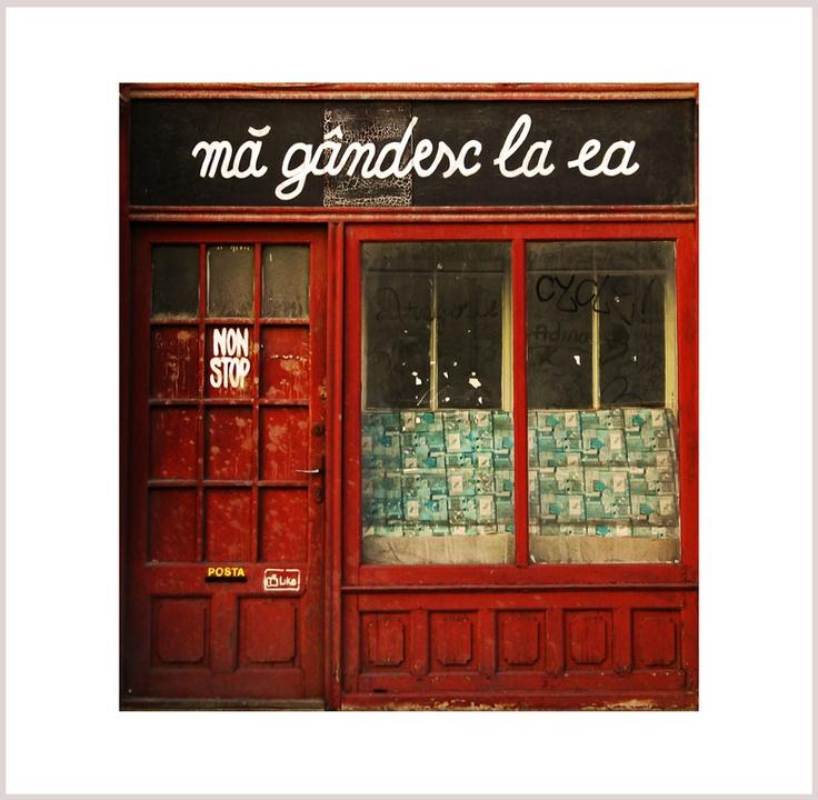store facade on Tribunei Street in Sibiu Romania