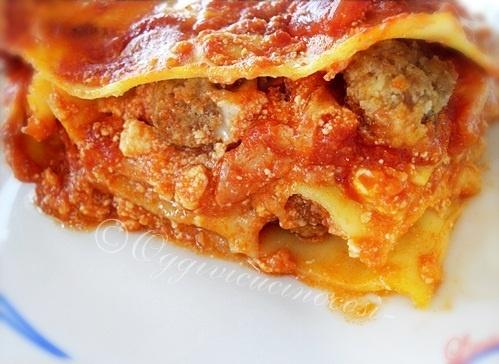 SATURDAY, FEBRUARY 18, 2012    Carnival Lasagna. with meatballs! -