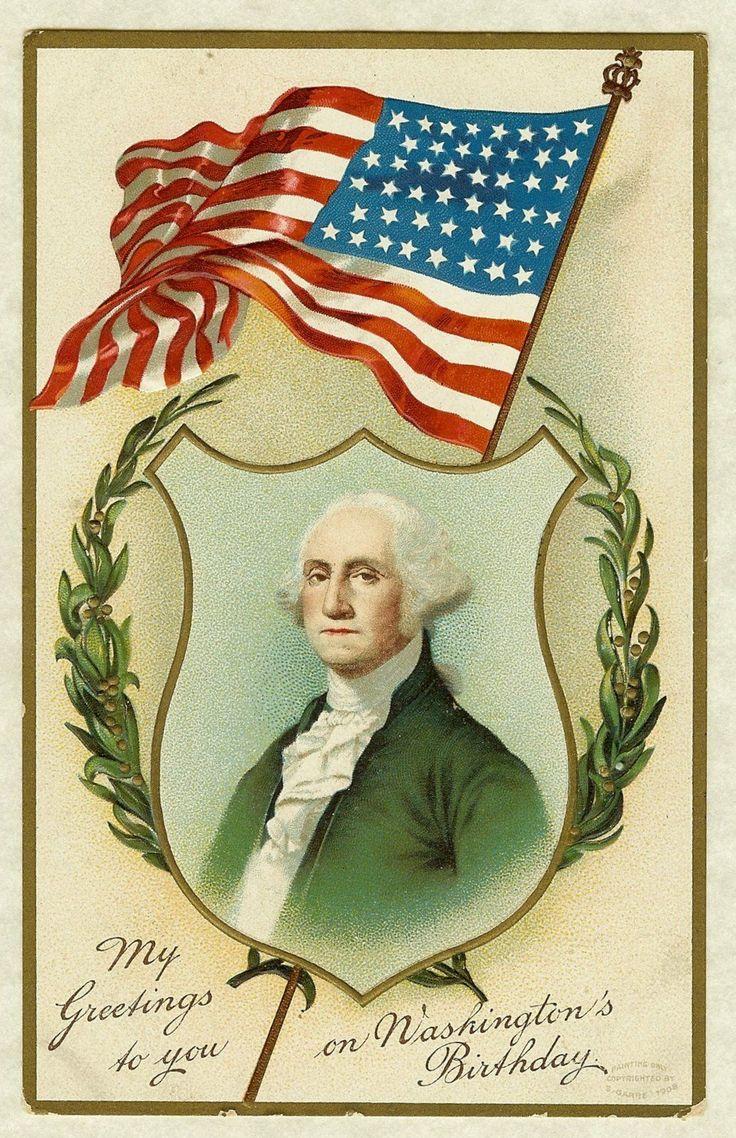 1908 Postcard George Washington's Birthday | Postcards ...