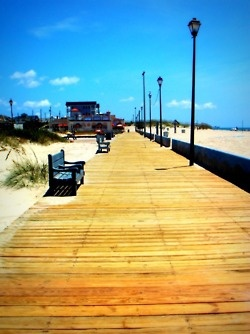 Boardwalk-Atlantic Beach, NC. I've walked on this boardwalk :)