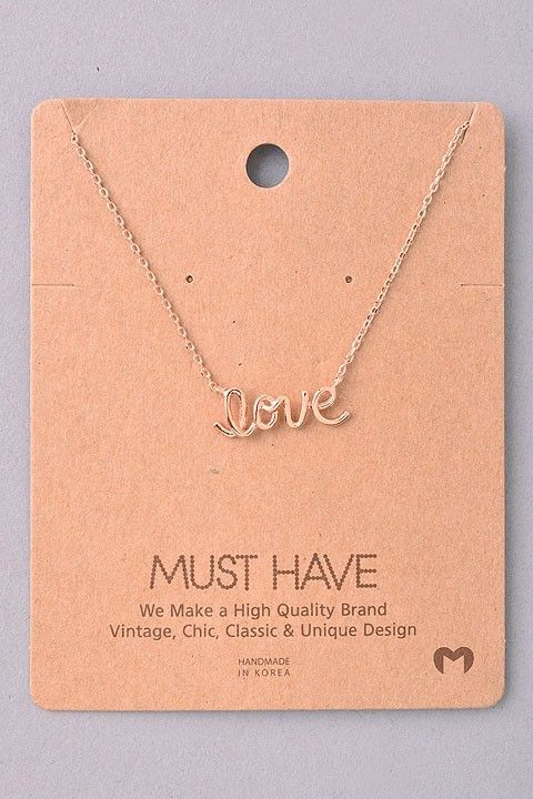 Olive Ave - Love Necklace- Rose Gold , $6.99 (http://oliveave.com/love-necklace-rose-gold/)