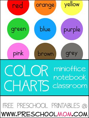 Number Names Worksheets preschool color chart : 1000+ images about Colors on Pinterest