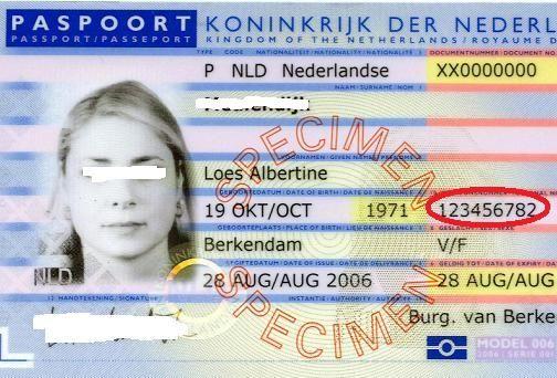 dit is een random id kaart van iemand  waarin je het bsn(burgerservicenummer)goed   te zien is