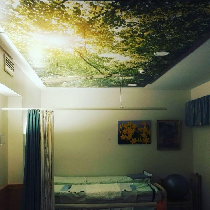 Sufit napinany firmy Alteza w szpitalu w Finlandii. / The stretch ceiling by Alteza in a hospital in Finland.