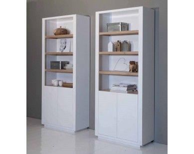 zelf te maken buffetkast: houten planken in witte kast? WEl meer opbergruimte nodig..   boekenkast wit met eiken van House of Mayflower