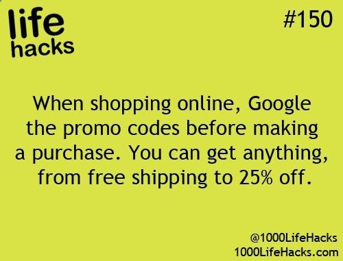 I do this every time! I love promo codes!!