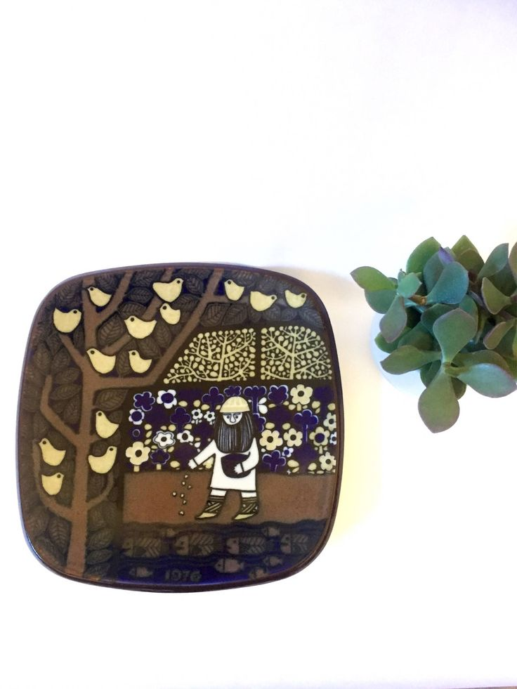 A personal favorite from my Etsy shop https://www.etsy.com/ca/listing/547832327/arabia-collectable-plate1976raija