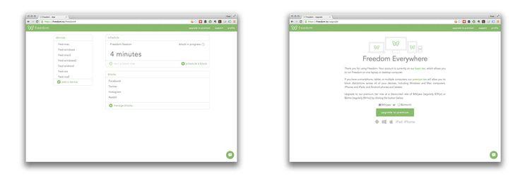 Freedom web interface
