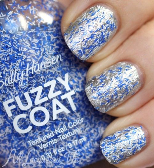 Sally Hansen Fuzzy Coat - Coat Tight Knit over CSM Hi Ho Silver
