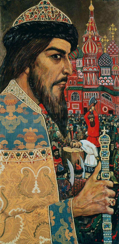 Илья Глазунов. . Иван Грозный. . 1974. Частное собрание.