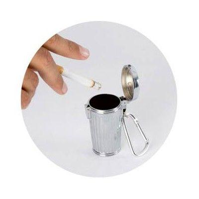 Cendrier de poche poubelle porte-clés